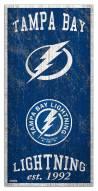 "Tampa Bay Lightning 6"" x 12"" Heritage Sign"