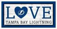 "Tampa Bay Lightning 6"""" x 12"""" Love Sign"