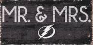 "Tampa Bay Lightning 6"" x 12"" Mr. & Mrs. Sign"