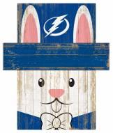 "Tampa Bay Lightning 6"" x 5"" Easter Bunny Head"