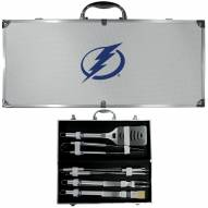 Tampa Bay Lightning 8 Piece Stainless Steel BBQ Set w/Metal Case