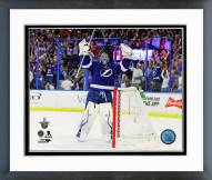 Tampa Bay Lightning Ben Bishop Playoff Framed Photo