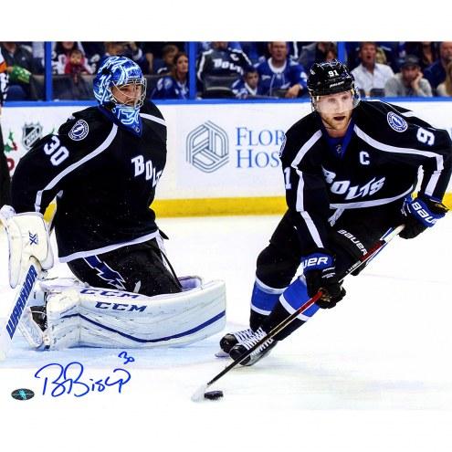 """Tampa Bay Lightning Ben Bishop w/ Stamkos Signed 16"""" x 20"""" Photo"""
