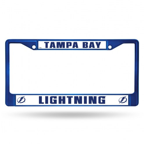 Tampa Bay Lightning Blue Colored Chrome License Plate Frame
