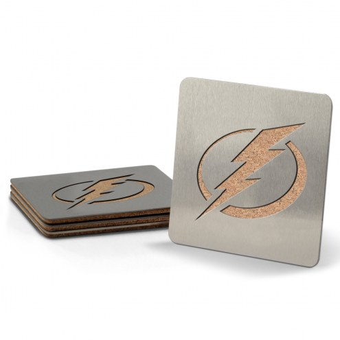 Tampa Bay Lightning Boasters Stainless Steel Coasters - Set of 4