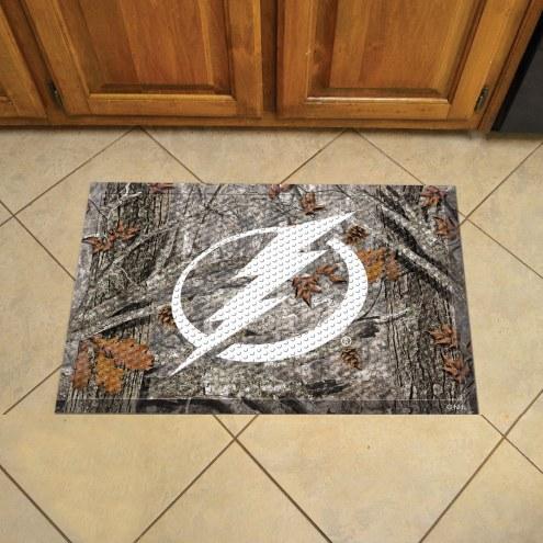 Tampa Bay Lightning Camo Scraper Door Mat