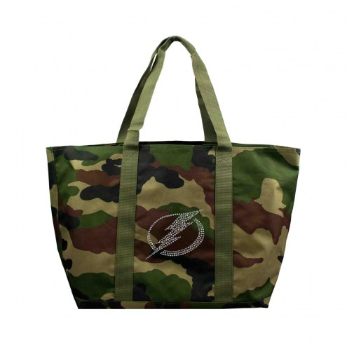 Tampa Bay Lightning Camo Tote Bag