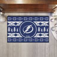 Tampa Bay Lightning Christmas Sweater Starter Rug