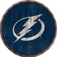 """Tampa Bay Lightning Cracked Color 24"""" Barrel Top"""