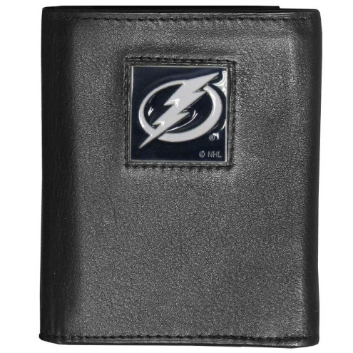 Tampa Bay Lightning Deluxe Leather Tri-fold Wallet in Gift Box