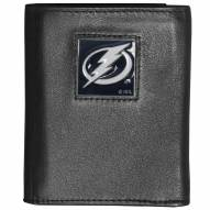 Tampa Bay Lightning Deluxe Leather Tri-fold Wallet