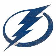 Tampa Bay Lightning Distressed Logo Cutout Sign