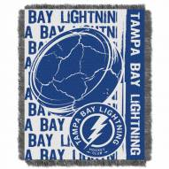 Tampa Bay Lightning Double Play Woven Throw Blanket