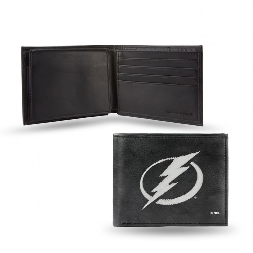 Tampa Bay Lightning Embroidered Leather Billfold Wallet