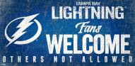Tampa Bay Lightning Fans Welcome Sign