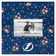 "Tampa Bay Lightning Floral 10"" x 10"" Picture Frame"