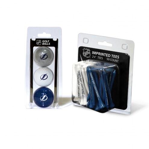 Tampa Bay Lightning Golf Ball & Tee Pack