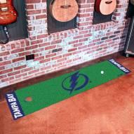 Tampa Bay Lightning Golf Putting Green Mat
