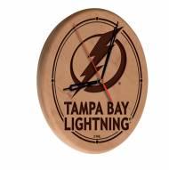 Tampa Bay Lightning Laser Engraved Wood Clock