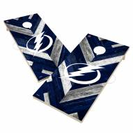 Tampa Bay Lightning Herringbone Cornhole Game Set