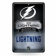 Tampa Bay Lightning Large Embossed Metal Wall Sign