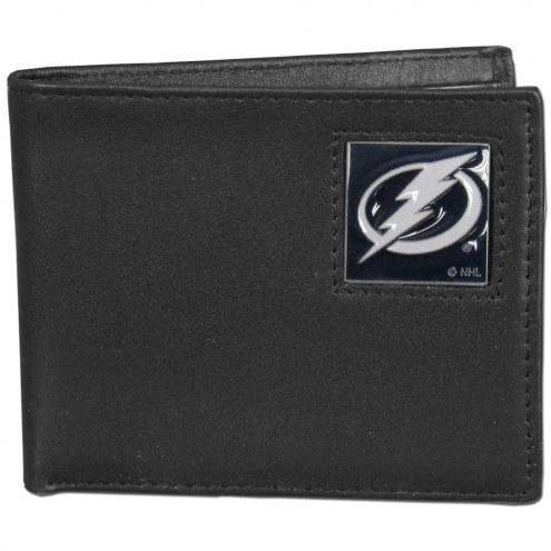 Tampa Bay Lightning Leather Bi-fold Wallet in Gift Box