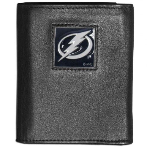 Tampa Bay Lightning Leather Tri-fold Wallet