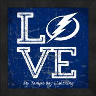 Tampa Bay Lightning Love My Team Color Wall Decor