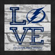 Tampa Bay Lightning Love My Team Square Wall Decor