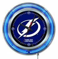 Tampa Bay Lightning Neon Clock