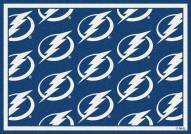 Tampa Bay Lightning NHL Repeat Area Rug
