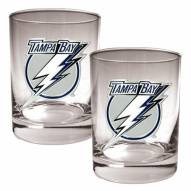 Tampa Bay Lightning NHL Rocks Glass - Set of 2
