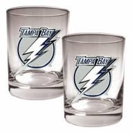 Tampa Bay Lightning NHL Rocks Glass - Set of 2
