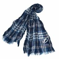 Tampa Bay Lightning Plaid Crinkle Scarf