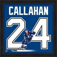 Tampa Bay Lightning Ryan Callahan Uniframe Framed Jersey Photo