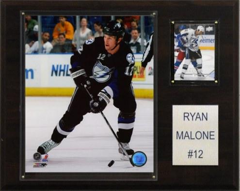 "Tampa Bay Lightning Ryan Malone 12"" x 15"" Player Plaque"