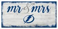 Tampa Bay Lightning Script Mr. & Mrs. Sign
