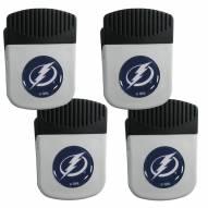 Tampa Bay Lightning 4 Pack Chip Clip Magnet with Bottle Opener
