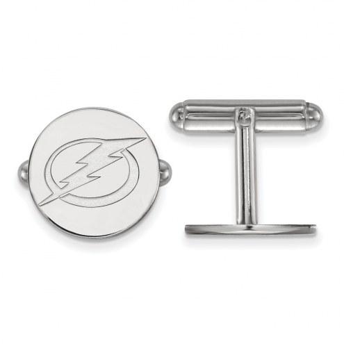 Tampa Bay Lightning Sterling Silver Cuff Links