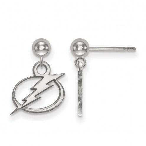 Tampa Bay Lightning Sterling Silver Dangle Ball Earrings