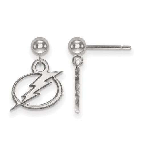 Tampa Bay Lightning Sterling Silver Dangle Ball Earrings