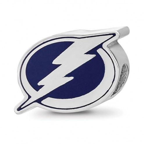Tampa Bay Lightning Sterling Silver Enameled Bead