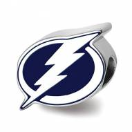 Tampa Bay Lightning Sterling Silver Enameled Bead