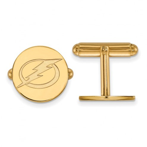 Tampa Bay Lightning Sterling Silver Gold Plated Cuff Links