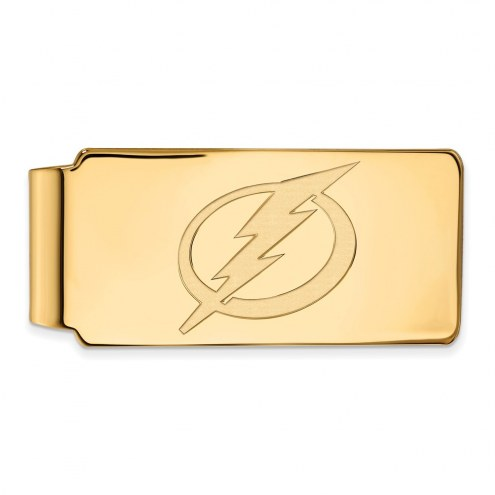 Tampa Bay Lightning Sterling Silver Gold Plated Money Clip