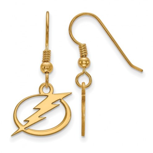 Tampa Bay Lightning Sterling Silver Gold Plated Small Dangle Earrings
