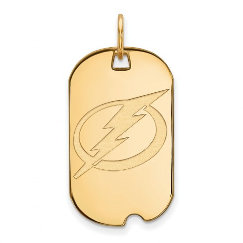 Tampa Bay Lightning Sterling Silver Gold Plated Small Dog Tag
