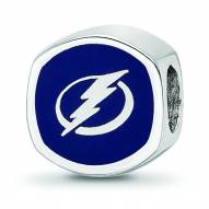 Tampa Bay Lightning Sterling Silver Logo Bead