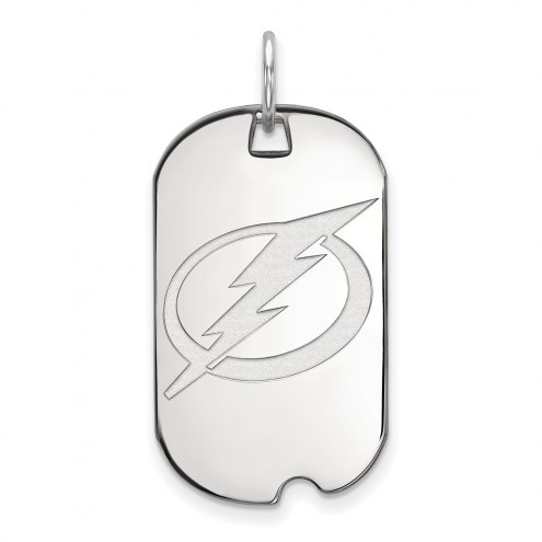 Tampa Bay Lightning Sterling Silver Small Dog Tag