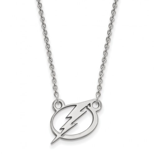 Tampa Bay Lightning Sterling Silver Small Pendant Necklace
